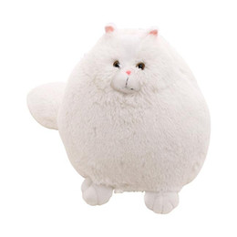 Soft Toys Cushions Home UK - 20170603 2019 Hot Sales Simulation Persian Cat Stuffed Soft Plush Toy Pillow Large Creative Cushion Home Living Festival Gift Free Shipping