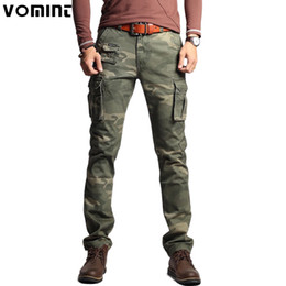 $enCountryForm.capitalKeyWord Australia - Vomint New Men Fashion Military Cargo Army Pants Slim Regualr Straight Fit Cotton Multi Color Camouflage Green Yellow V7A1P015MX190904
