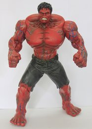 Red Hulk Figures Australia - 26cm The Avengers Movie Red Green Hulk Action Figures toy Movable joints PVC Model Dolls Movable Anime Figure Kids child gift