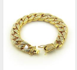 Amethyst Tennis Bracelet Silver Australia - Hip-hop Hiphop Men Cuban Gold Micro-inlaid Bracelet Miami Gold Bracelet