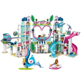 Princess blocks online shopping - Girls Friends Stephanie s House Building Blocks Heartlake hotel hospital Girls City Princess Castle Villa Figures Bricks toys SH190915