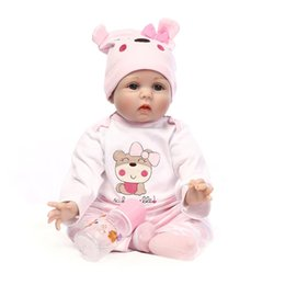 China 22'' 55cm Soft Real Silicone Baby Doll Lifelike Alive Relistic Reborn Silicone Baby Doll Designer Baby Doll For Sale Christmis Gift LD001 supplier lifelike dolls for sale suppliers