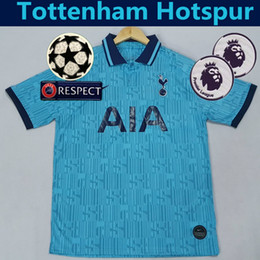 spurs shirt Australia - HOT SALE MENS HARRY KANE DELE ERIKSEN SON 3RD DIER LAMELA CLUB THIRD BLUE SHIRT 2019 20 JERSEY 2020 SPUR FOOTBALL T-SHIRT NDOMBÉLÉ SÁNCHEZ