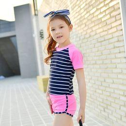 $enCountryForm.capitalKeyWord Australia - Summer New Hot Kids Swimsuit Quality Boys Baby Princess Swimwear Two-pieces Bath Suit Infant Lovely Stripe Children Beachwear