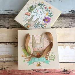 $enCountryForm.capitalKeyWord Australia - Lovely Rabbit Paper Cookies Bags with Handle Candy Chocolate Cookies Gift Bag for Christmas Birthday Party