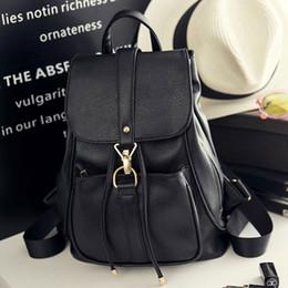 $enCountryForm.capitalKeyWord Australia - ouble shoulder 2019 Korean Style Women Backpack Top Quality Leather Double Shoulder School Bag for Teenage girl Female Casual Black Bag...