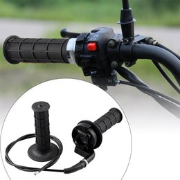 TwisTed cables online shopping - 1 Pair Motocross Twist Throttle Grip Universal For CC With Throttle Cable Clamp Hand Grips Acceleration Grip