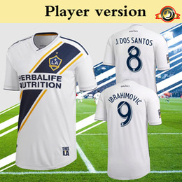 Wholesale Player Version MLS LA Galaxy Soccer Jersey Home White Football Shirt Zlatan Ibrahimovic LLETGET Team Uniform