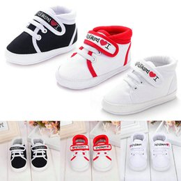 toddler girls canvas shoes Australia - 0-18M Canvas Sneaker Toddler Newborn Shoes Baby Boys Girls Infant Kids Boy Girl Soft Sole New First Walkers