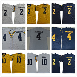 Charles woodson miChigan jersey online shopping - NCAA Men s Michigan Wolverine Charles Woodson Jim Harbaugh Tom Brady College Football Jerseys White Yellow Blue Navy Stitched lo