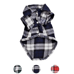 Wholesale new season coats for sale – custom Classic Plaid Pet Dog Shirts For Dogs Clothes Summer Dog Vest Small Medium Pet Clothes For Dogs Pets Clothing Puppy Cat Clothing