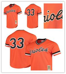 2dc154747 Men s Orioles 33 Eddie Murray Mitchell   Ness Orange Cooperstown Mesh  Batting Practice Baltimore Jersey