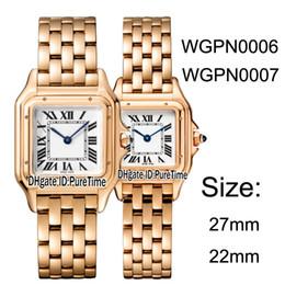 Swiss Quartz Battery Australia - New WGPN0007 WGPN0006 Rose Gold 27mm 22mm White Dial Roma Mark Swiss Quartz Womens Watch Ladies Stainless Steel Watches For Puretime B25d4