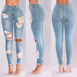 Sexy Woman Pants Jeans Australia - Women Summer Pants 2019 new Stretch Jeans Female Fashion High Waist Stretch Slim Sexy jeans Y521