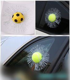 window stickers Australia - 3D Black 8 Pool Ball Hit Window Glass Crack Sticker Car Styling Billiard Simulation Broken Funny House Decoration Stickers Decal