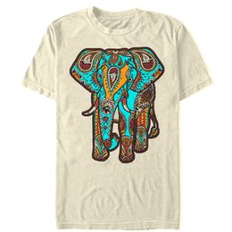 9a1fa312a Lost Gods Henna Elephant Print Mens Graphic T Shirt Men Women Unisex  Fashion tshirt Free Shipping Funny Cool Top Tee White