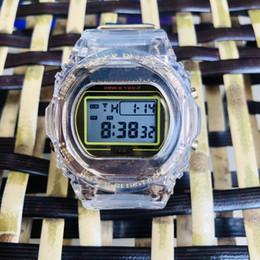 AnniversAry wAtch online shopping - Luxury Men s Watch GMW B5000 Casual Sports Quartz Watch th Anniversary Edition L ED Waterproof PU Scotch Tape Gold
