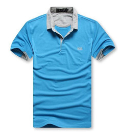 Chinese  Man Polo Shirt Luxury Leisure Polo Shirt for Men New Fashion Polyester Solid Casual Loose Summer Sport Plus Size M-2XL manufacturers