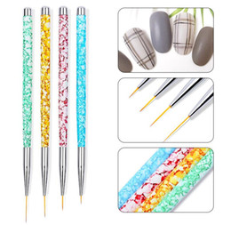 $enCountryForm.capitalKeyWord UK - 4pcs set Nail Art Liner Painting Pen 3D Tips DIY Acrylic UV Gel Brushes Drawing Kit Flower Line Grid French Designer Manicure Tool