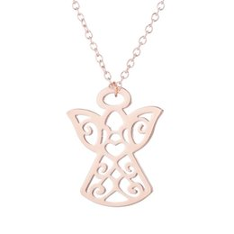 """Cat Pendant 18k Plated Australia - """"Stainless Steel Pendant Brass Chain Necklace Charm Women Choker Jewelry Collier Contracted Hollow out a cat Necklaces NYX-9"""""""