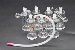 hose bong 2019 - colorful Mini Glass oil rigs Bongs Birdcage inline perc Smoking Pipe Dab Rigs Water Pipes Bong with hose discount hose b