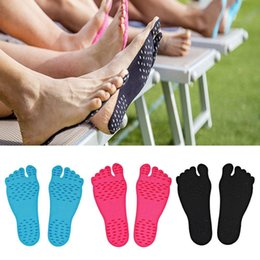 $enCountryForm.capitalKeyWord UK - Adhesive Shoes Waterproof Foot Pads Stick On Soles Flexible Feet Protection Sticker Soles Shoes For Beach Pool K581