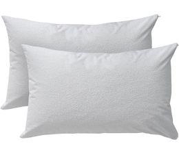 Full Size White Bedding Australia - Customized size china zipper white Waterproof Pillowcase Full Polyester Towel Cloth Pillow Encasement Decorative Pillow Cover