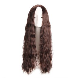 Synthetic hair pieceS online shopping - 26inch Long Curly Colored Hair Wigs Heat Resistant Synthetic Wigs For Black White Women Natural Female Hair Pieces lace front wig