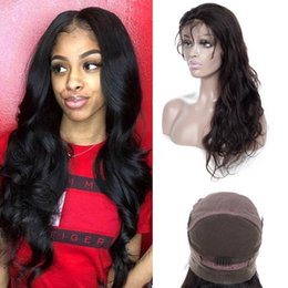 swiss hair products NZ - Brazilian Virgin Hair Full Lace Wig 10-32inch Body Wave Full Lace Wigs 100% Human Hair Wigs Hair Products