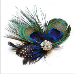 Feather Ball Hair Australia - Headwear Drill Hoop Euro-American Hair Belt Peacock Feather Hair Pinch Accessories