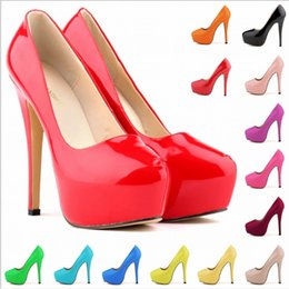 Red Bottoms Ladies Shoes Australia - Designer high heel patent leather round head ladies high heels flat red bottom 12CM 14CM wedding dress shoes 35-42