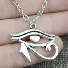 Egyptian Horus Pendant Australia - Fashion Antique Silver Rah Egypt Eye Of Horus Egyptian Necklace Statement Chain Long Choker Necklaces Pendant Women Jewelry Friendship Gift