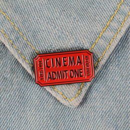 $enCountryForm.capitalKeyWord Australia - Red Movie Ticket Film Cinema Admit One Enamel Pin Badge Brooch Backpack Denim Shirt Collar Lapel Pin Punk Jewelry Gift Friend