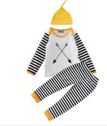 $enCountryForm.capitalKeyWord UK - 2017 Boys Girls Baby Clothing Sets Long Sleeve tshirts Pants Hat 3Pcs Set Cotton Lace Toddler Horse Print Boutique Clothes Outfits