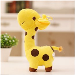 giraffe toys Canada - 18cm Unisex Cute Gift Plush Giraffe Soft Toy Animal Dear Doll Baby Kid Child Christmas Birthday Happy Colorful Gifts5 colors.#89