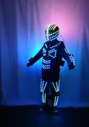$enCountryForm.capitalKeyWord Australia - RGB robot dance LED costumes Full color colorful light clothe wears ballroom programmable dj suit performance