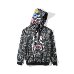 78073bb993b9 Bape camo jacket online shopping - Men s Camo Print Hoodie Jacket Teenager  Casual Pullover Sweatshirts