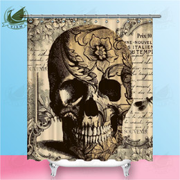 $enCountryForm.capitalKeyWord Australia - Vixm day of the dead decorations bath curtain sugar skull shower curtains bathroom curtain shower curtain funny waterproof shower
