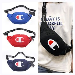 Men bag backpack shop online shopping - Champion Letter Fanny Pack Waist Belt Bag Unisex Women Men One Shoulder Shopping Travel Casual Sports Outdoor Zipper Bags Color C51104