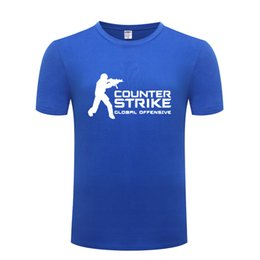 Wholesale Game Counter Strike CSGO Printed Men T Shirt Funny T Shirts Men Cotton Short Sleeve Tshirt Streetwear Tee Shirt Homme Tops Tees