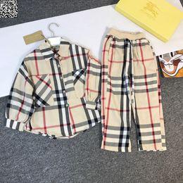 $enCountryForm.capitalKeyWord Australia - Children shirts sets kids designer clothing check shirt + casual pants 2pcs cotton fabric autumn boys and girls casual setsnew