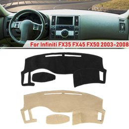 infiniti fx35 car Australia - Car Dash Cover Dashboard Dashmat Sun Visors Sunshade Mat Carpet For Infiniti FX35 FX45 FX50 2003-2008 Black Beige Anti-slip