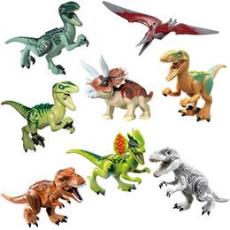 $enCountryForm.capitalKeyWord Australia - Jurassic Dinosaur Set Building Block Toy Figure Indoraptor Velociraptor Triceratop T-Rex World Dino Brick For Children