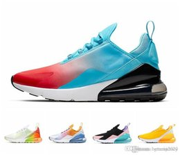 Discount teal green shoes - 2019 Good FIRECRACKER Women Men airs 270s Running Shoes SE FLORAL Orange Volt Throwback Future RAINBOW HEEL Teal Mens Tr