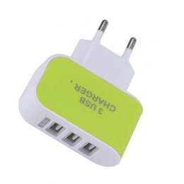 charger 1a Australia - 100pcs Hot 5V 2A 1A 3USB US EU Candy Charger Travel Fast Charge Charging Head LED Illuminated Phone Power Adapter For iphone Samsung LG