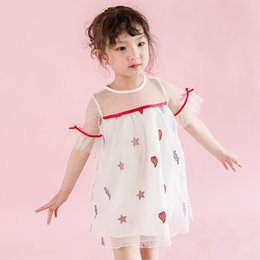 $enCountryForm.capitalKeyWord Australia - Girls Dress Summer New Christmas Dresses Cute Sweet Lace Vest Embroidered Mesh Princess Petal Lace Princess