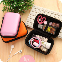 Cable Shoes Australia - Earphone Wire Organizer Box Data Line Cables Storage Bags Digital Products Coin U Disk Container Protective Case For