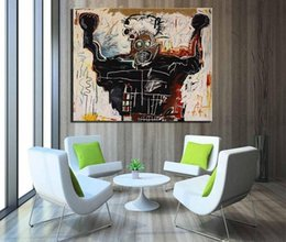 art canvas prints Australia - Jean-Michel Basquiat Boxer Huge Large Wall Picture Handpainted  HD Print Oil Painting On Canvas Wall Art Decor In Living Room Multi Sized