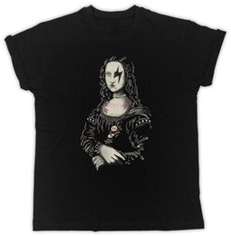 Discount rock n roll t shirts 2019 Mona Lisa Banksy Like T-Shirt Rock N Roll Metal Funny Mens Womens Tee Fashion New Top Tees T Shirts Top Tee Solid C