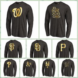 $enCountryForm.capitalKeyWord NZ - Washngton Natonls San Franisco Giants San Digo Padres Pitsburgh Pirates Fanatics Apparel Gold Collection Long Sleeve Tri-Blend LONG T-Shirt